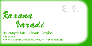 roxana varadi business card